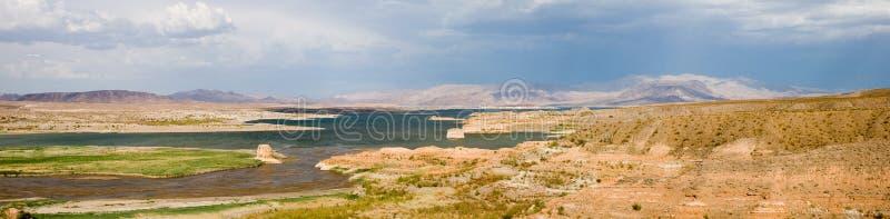 Panorama 1 van de Weide van het meer stock foto's