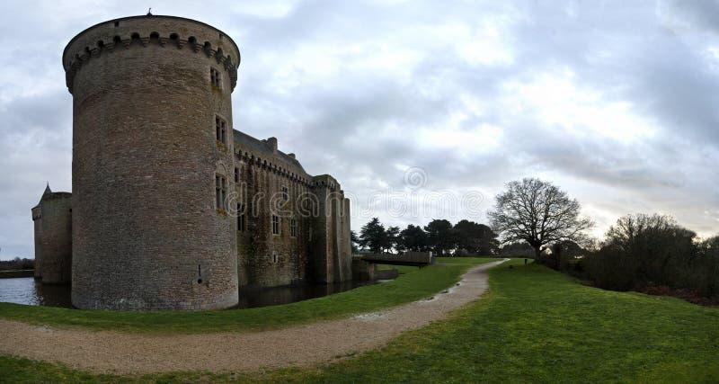 Panorama 11 de Château Suscinio imágenes de archivo libres de regalías