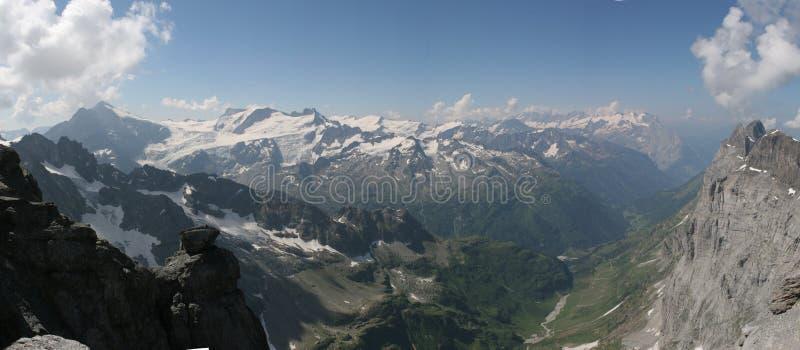 Panorama 2 van alpen stock foto
