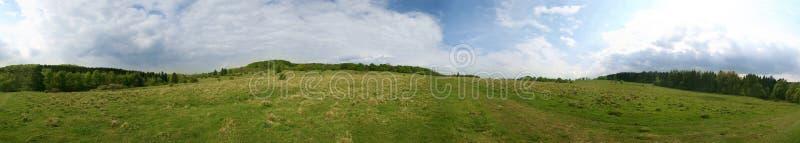 panorama 360° de um prado foto de stock