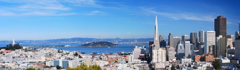 Panorama 7 de San Francisco foto de stock royalty free