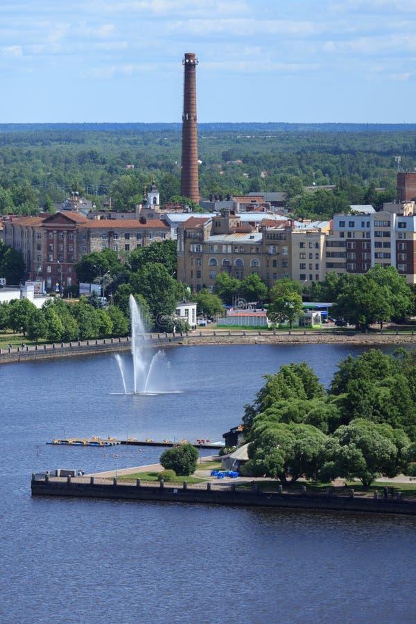 Panorama aéreo da cidade velha foto de stock royalty free