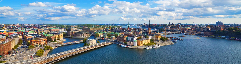 Panorama aéreo de Éstocolmo, Sweden fotos de stock royalty free