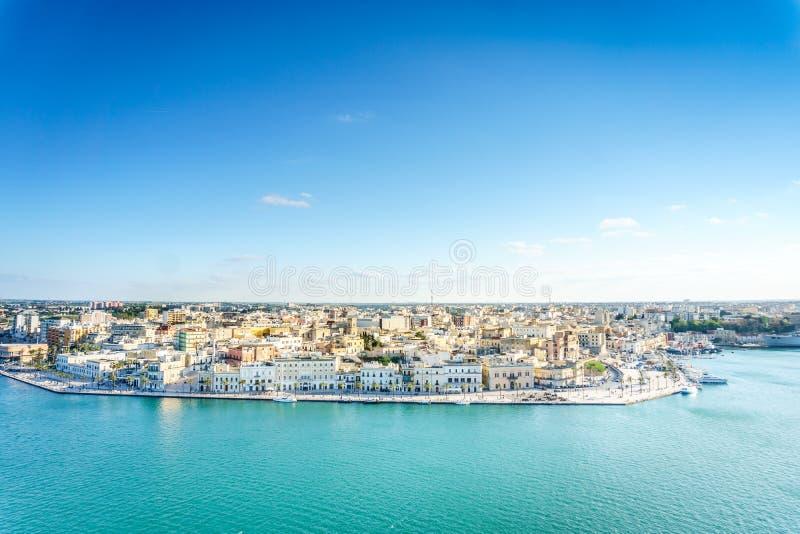 Panorama aéreo de Brindisi, Puglia, Itália imagem de stock royalty free