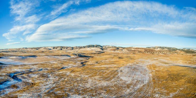 Panorama aéreo de las colinas de Colorado imagen de archivo