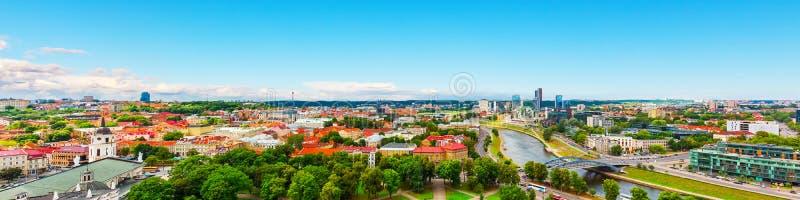 Panorama aéreo de Vilnius, Lituânia fotos de stock royalty free