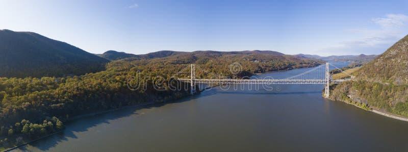 Panorama aérien de la vallée de la rivière Hudson à New York en automne photographie stock