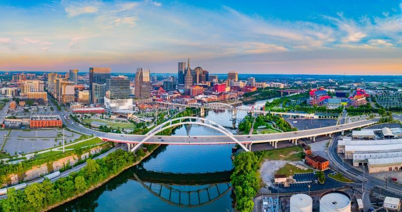 Panorama aérien de Nashville Tennessee TN images stock