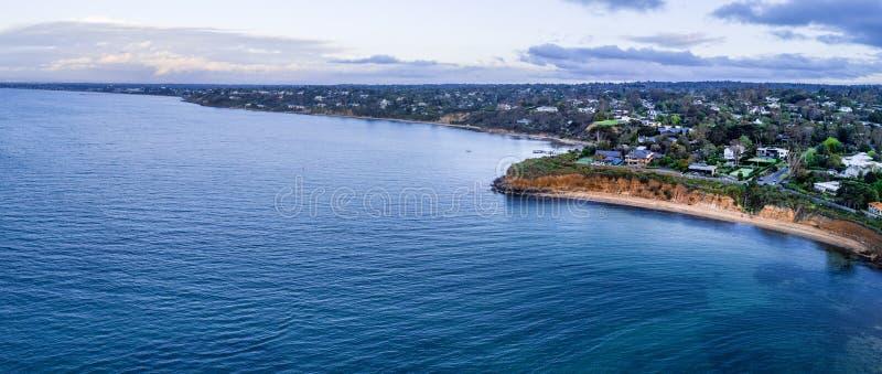 Panorama aérien large de péninsule de Mornington photo libre de droits