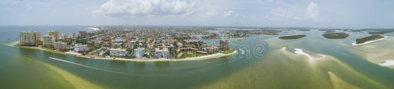 Panorama aérien Marco Island Florida photo libre de droits
