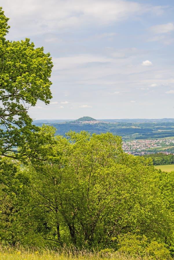 Panorama aan de Duitse keizerheuvel Hohenstaufen royalty-vrije stock afbeelding