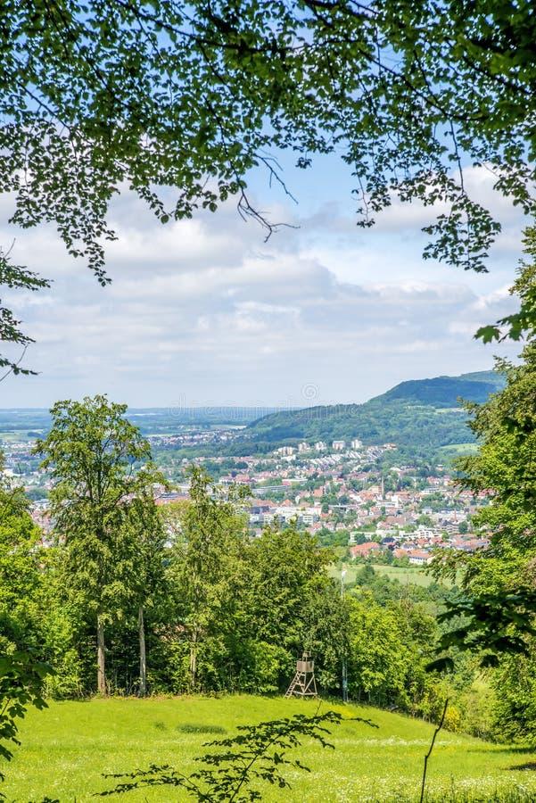 Panorama aan een Aalen in Duitsland royalty-vrije stock fotografie