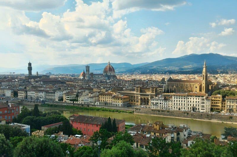 Panorama aan Florence royalty-vrije stock foto