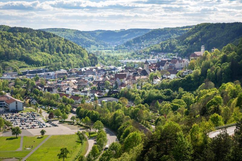 panorama aan Sulz Duitsland stock fotografie