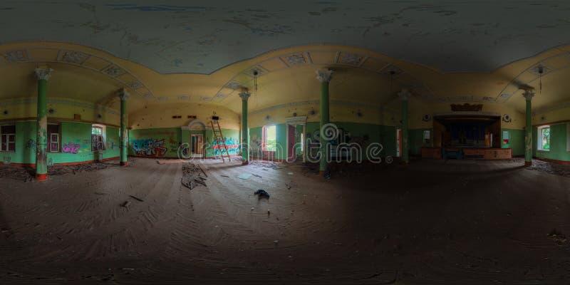 Panorama abandonado del pasillo imagen de archivo