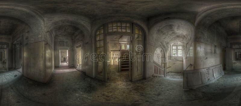 Panorama abandonné de vestibule photo stock