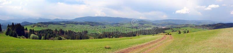 A panorama above Malatina, Orava, Slovakia royalty free stock images
