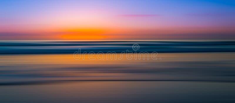 Panorama abstrato do por do sol do seascape fotografia de stock royalty free