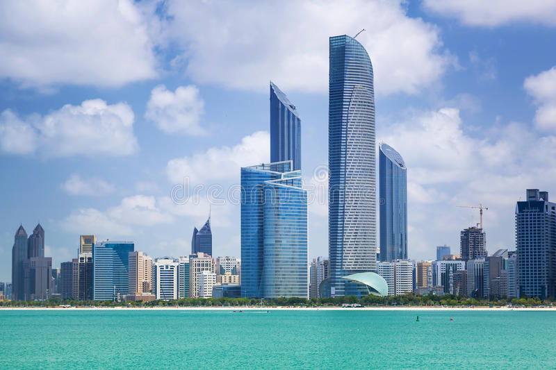 Panorama Of Abu Dhabi, UAE Stock Photo
