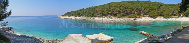 Panorama adriático da praia fotos de stock royalty free