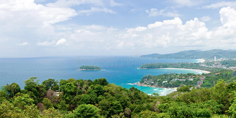 Download Panorama Aerial Of Tropical Beach Phuket Thailand Stock Image - Image: 26648251