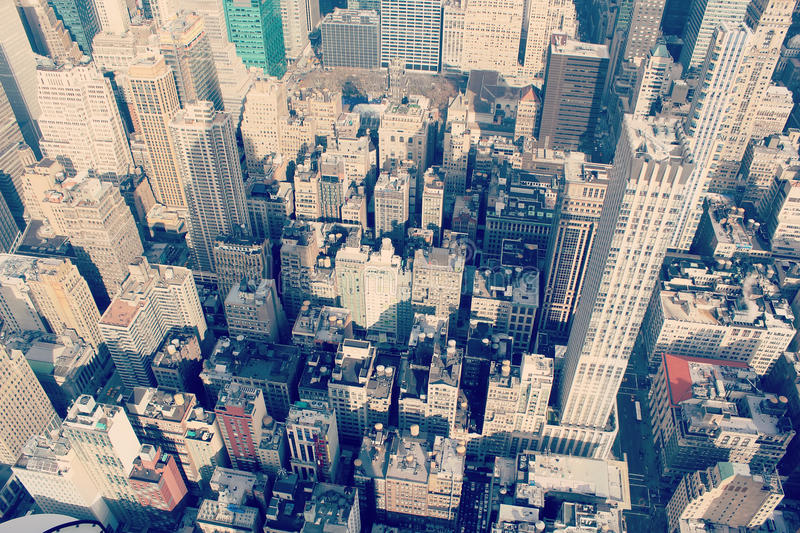 Panorama an aerial view over New York city royalty free stock photography