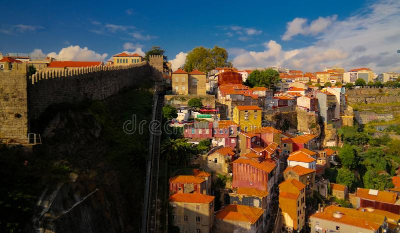 Panorama aerial view to Porto Portugal royalty free stock image