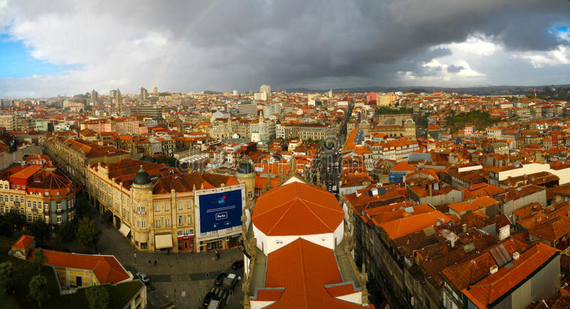 Panorama aerial view to Porto Portugal royalty free stock photography