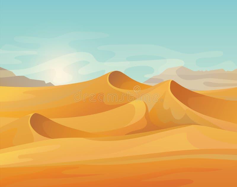 Panorama al aire libre en paisaje del desierto libre illustration