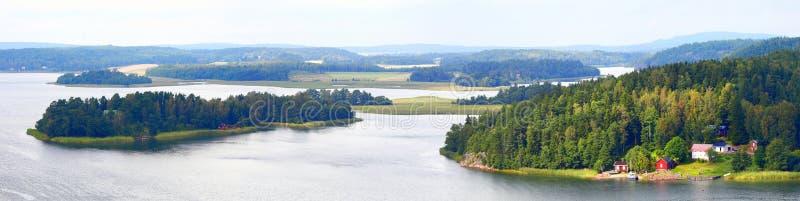 Panorama in Aland-Eilanden stock fotografie