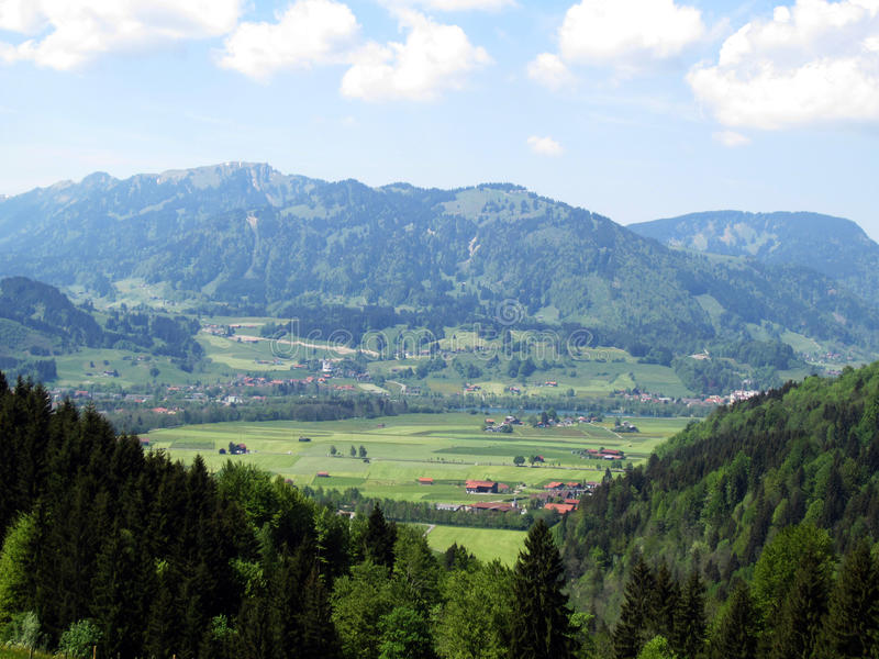 Panorama Allgäu photo stock