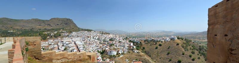 Panorama of Alora Andalucia Spain. royalty free stock photos