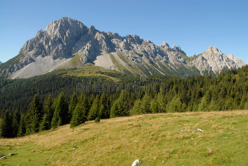 Panorama alpino fotografia de stock