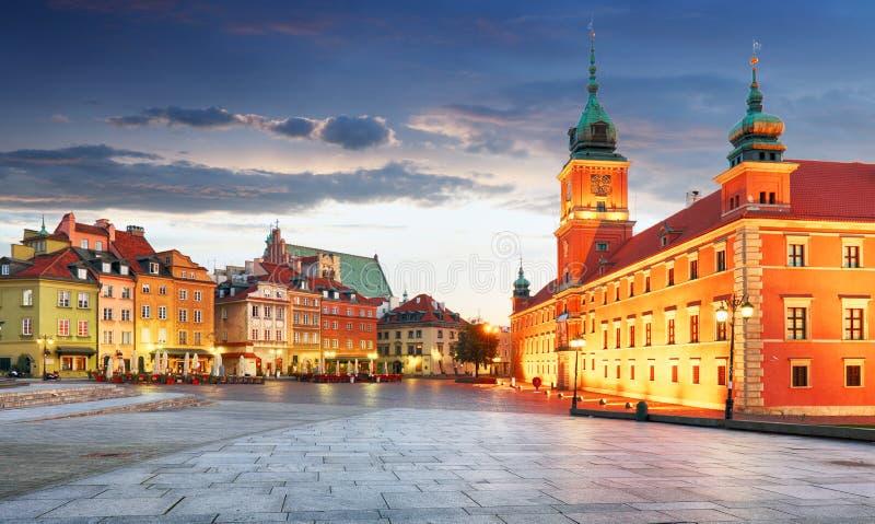 Panorama alter Stadt Warschaus, Polen stockfotos