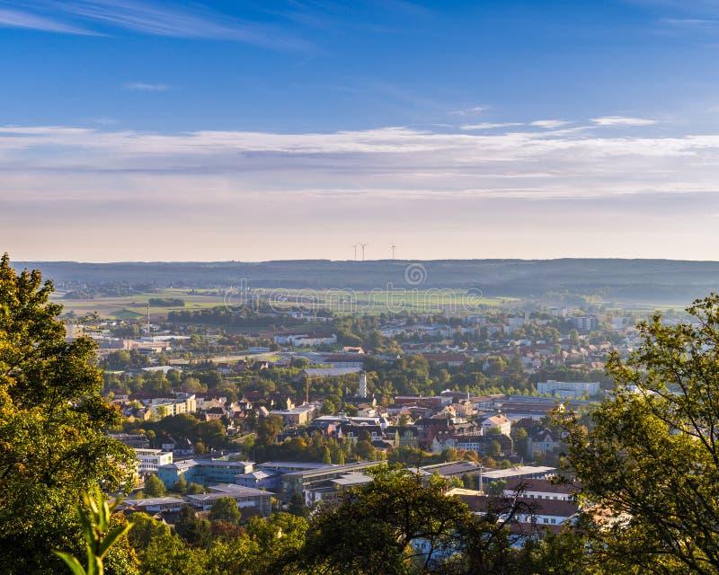 Panorama Ambergs Mariahilfberg stockfoto
