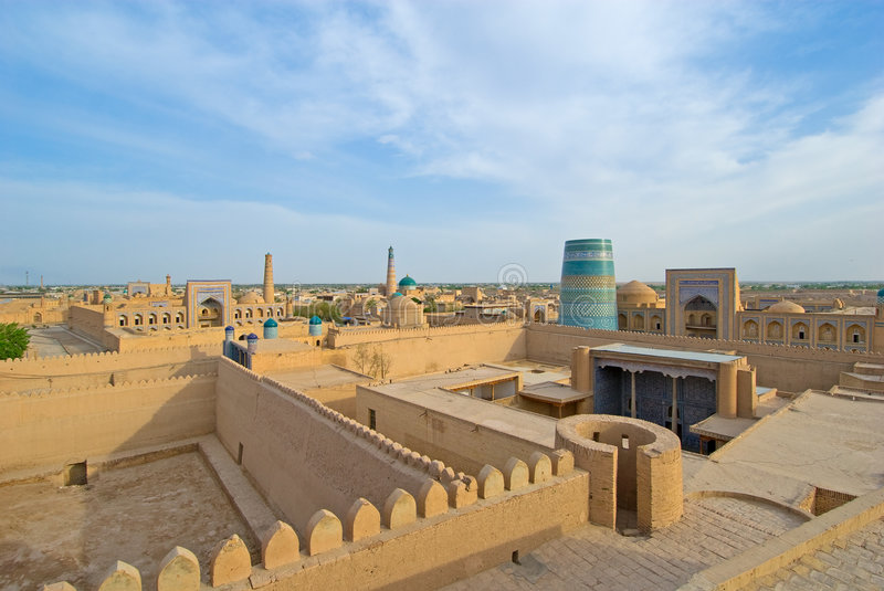 Download Panorama Of An Ancient City Of Khiva Stock Photo - Image: 6236896