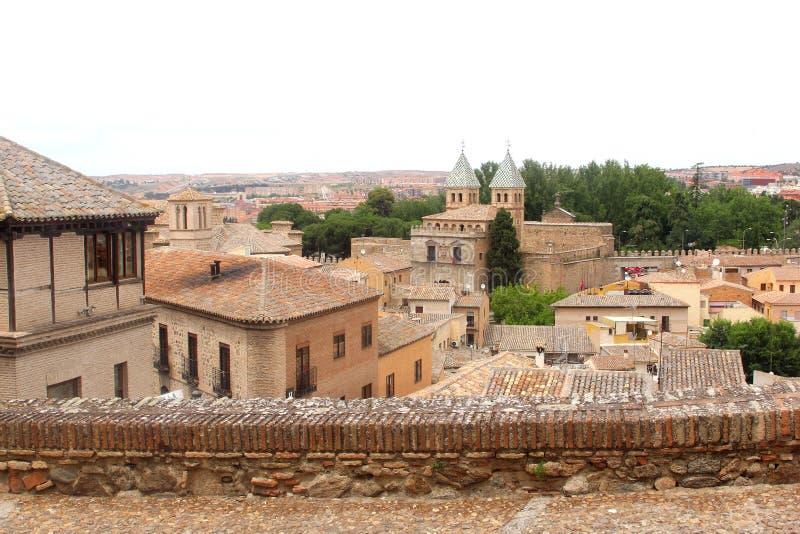 Panorama of the ancient town of Toledo (Unesco), Spain, Europe. Panorama of the ancient medieval town with many monuments in Toledo (Unesco), Castile La Mancha stock photos