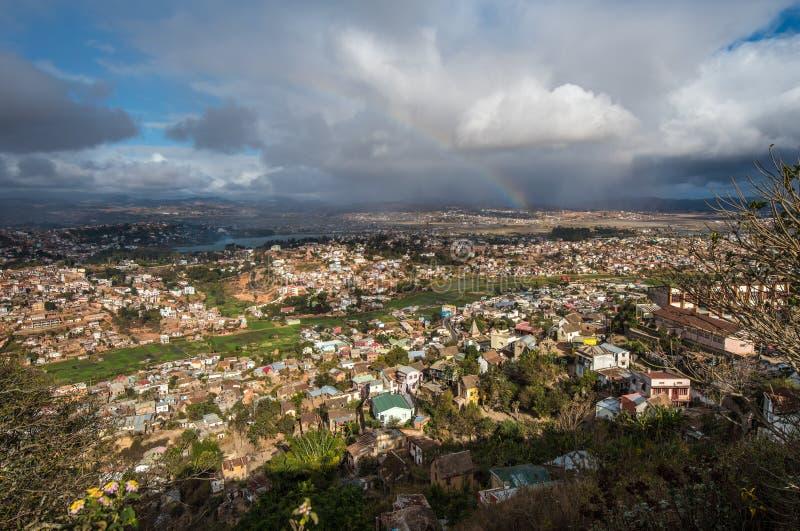 Panorama Antananarivo miasto, Madagascar kapitał zdjęcie stock