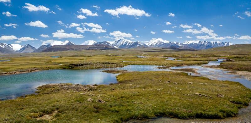Panorama Arabel dolina w Kirgistan zdjęcia stock