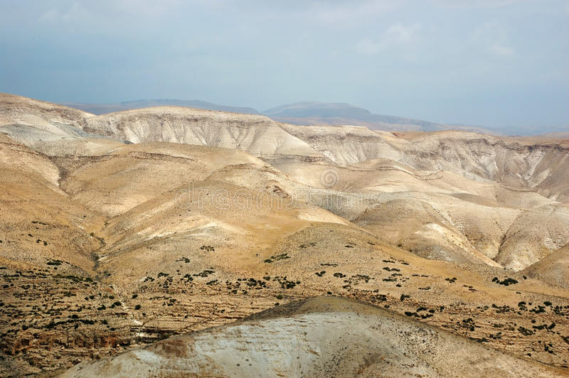 Panorama of Arava desert,Israel stock photography