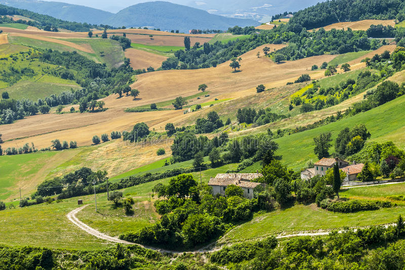 Download Panorama from Arcevia stock image. Image of italian, blue - 28684829