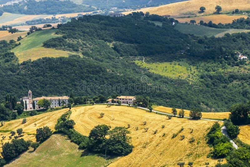 Download Panorama from Arcevia stock image. Image of urbino, winding - 28703787