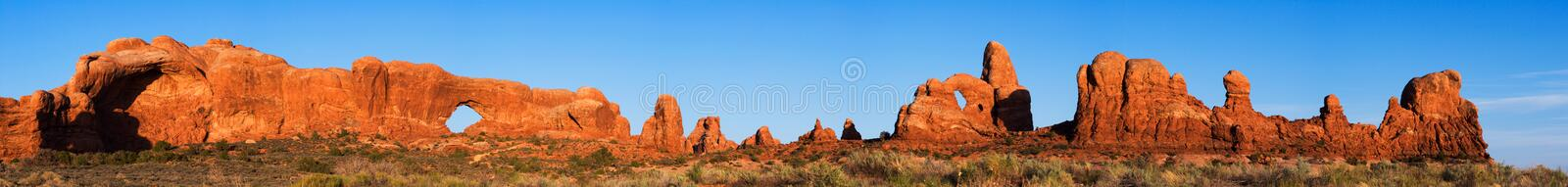 Panorama of Arches National stock photo