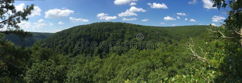 Panorama Arkansas Rolling Hills lizenzfreie stockbilder