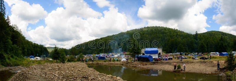 Panorama asombroso del festival de Yavorinka imagenes de archivo