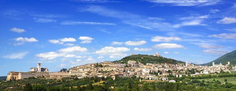 Panorama Assisi stock foto's