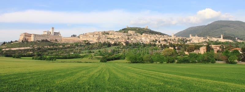 Panorama of Assisi stock photos