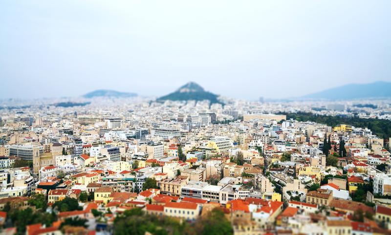 Panorama- Aten arkivfoton