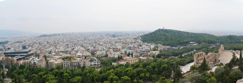 Panorama- Aten royaltyfria foton