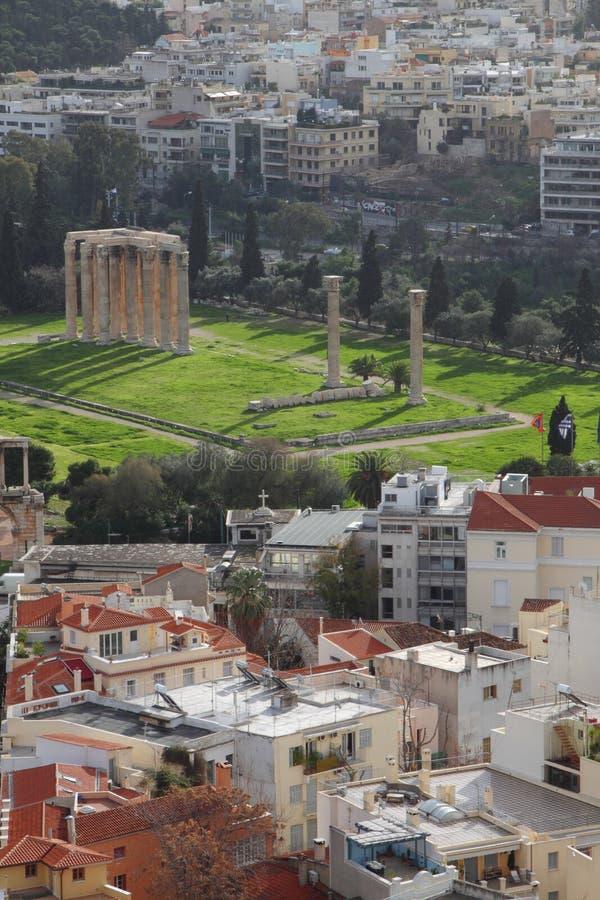 Panorama of Athens royalty free stock photos